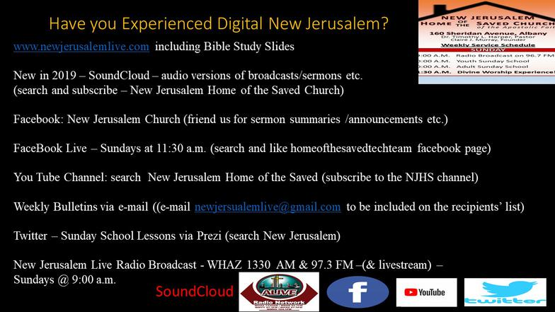 New Jerusalem Home of the Saved Church About us